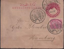 Egypt - Uprated Stationery Envelope, ALEXANDRIE 18.11.1891 - Hamburg, Germany. - Ägypten
