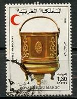 Maroc - Marokko - Morocco 1981 Y&T N°892 - Michel N°966 (o) - 1,30d Croissant Rouge - Morocco (1956-...)