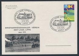 Deutschland Germany 1974 Brief Cover - 70 Jahre Bahn Lage - Bielefeld, Lage.Lippe - Ausstellung Labrima 74/ Railway Line - Treinen