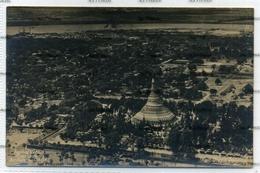 Myanmar Burma Postcard Aerial Views Rangoon Shwe Dagon Pagoda 1929 - Myanmar (Burma)