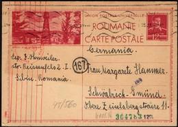 Romania - Censored (OKW) Stationery Postcard, Mi.P124. SIBIU 25.7.1942 To Germany. - 1918-1948 Ferdinand, Carol II. & Mihai I.