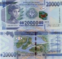 GUINEA      20,000 Francs      P-50      2015      UNC  [ 20000 ] - Guinea