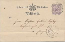 Tailfingen  Ebingen  1881  Entier - Briefe U. Dokumente