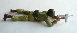 SOLDAT FIGURINE FIG STARLUX 1966 PARA Commando C0 TIREUR MITRAILLETTE COUCHE ARMEE MODERNE - Starlux