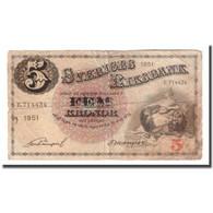 Billet, Suède, 5 Kronor, 1951, 1951, KM:33ah, B+ - Suecia