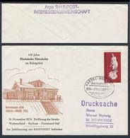 Deutschland Germany 1974 Brief Cover - 100 Jahre Rheinische Eisenbahn Im Ruhrgebiet - Bahnpost Befördert Kassel-Duisburg - Treinen
