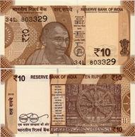 INDIA       10 Rupees       P-109       2018       UNC  [ Sign. Patel - Letter L ] - India