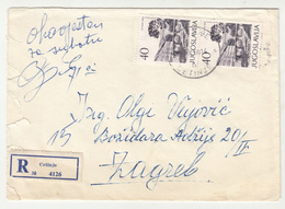 Yugoslavia Letter Cover Travelled Registered 1962 Cetinje To Zagreb B190720 - 1945-1992 Socialist Federal Republic Of Yugoslavia
