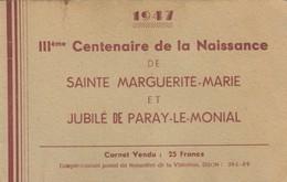 FRANCE CARNET III° CENTENAIRE DE LA NAISSANCE DE Ste MARGUERITE-MARIE ET JUBILEE DE PARAY-LE-MONIAL - Erinnophilie