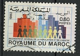 Maroc - Marokko - Morocco 1982 Y&T N°928 - Michel N°1003 (o) - 60c Recensement - Morocco (1956-...)