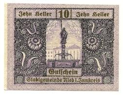 1920 - Austria - Ried Notgeld N65 - Austria