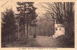 Thuin - Sous Bois Et Chapelle N D De Lourdes  -  état Voir Scan. - Thuin