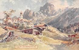 """M08366 """"  WELSCHNOFEN """" ILLUSTRAZIONE DI EDWARD THEODORE COMPTON-(ILLUSTRATORE ED ALPINISTA)- CARTOLINA  ORIG. NON SPED. - Bolzano (Bozen)"""