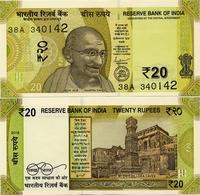 INDIA       20 Rupees       P-New       2019       UNC  [ Sign. Das - No Letter ] - India