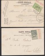 """Fine Barbe - Lot De 2 CP Vue Affranchie Par N°53 Et 56 + BDF Et Inscription Marginal """"Timbres Postes..."""" à Voir ! Voyagé - 1893-1900 Thin Beard"""