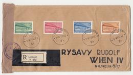 Jugoslavia FNR Danube Conference Set On Registered Letter Cover Travelled 1948 Ljubljana To Wien - Censored B190720 - Slovenia