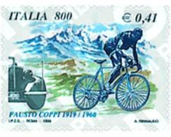 Ref. 67125 * MNH * - ITALY. 1999. 90th ANNIVERSARY OF THE CYCLIST FAUSTO COPPI . 90 ANIVERSARIO DEL CICLISTA FAUSTO COPP - Cycling