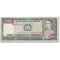 Billet, Bolivie, 1000 Pesos Bolivianos, 1982, 1982-06-25, KM:167a, TB - Bolivie