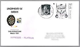 LANZAMIENTO DE DARDOS - Dart Throwing. San Sebastian, Guipuzcoa, Pais Vasco, 1991 - Games