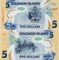 SOLOMON IS.         5 Dollars       P-New       ND (2019)       UNC  [ Sign. 11 ] - Isola Salomon