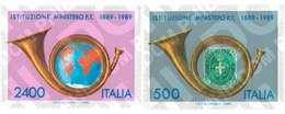 Ref. 124645 * MNH * - ITALY. 1989. CENTENARY OF THE POST AND TELECOMMUNICATIONS MINISTRY . CENTENARIO DEL MINISTERIO DE - Post