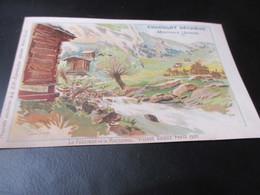 Postkaart ,Chocolat Sechaud Montreux Suisse - Chocolat