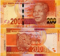 SOUTH AFRICA       200 Rand       P-142b       ND (2015)       UNC  [ Sign. Kganyago ] - Sudafrica