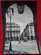 LIVORNO Piazza Grande Portici Filobus Ist. Stenografico Italiano Bar Auto AnimataVIAGGIATA 1954 - Livorno