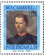 Ref. 130774 * MNH * - ITALY. 1969. 5th CENTENARY OF THE BIRTH OF NICCOLO MACHIAVELLI . 5 CENTENARIO DEL NACIMIENTO DE NI - Unclassified