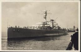 Hindenburg 6Ph CAD Wilhelmshaven Rüstringer 20 7 34 CPA Panzerschiff Deutschland Geht In See - Briefe U. Dokumente