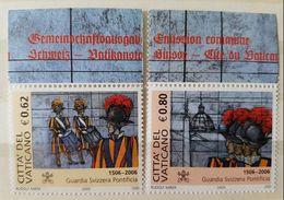 """Vaticano 2005: """"Guardia Svizzera Pontificia  Schweizer Garde"""" ** MNH Mit Oberrand Beschriftet ZUM POSTPREIS à La Faciale - Gemeinschaftsausgaben"""