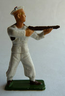 RARE Figurine CLAIRET ARMEE MODERNE  MARINS 41 TIREUR FUSIL DEBOUT 1955 Pas Starlux Avec Une Rare Peinture - Starlux