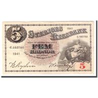 Billet, Suède, 5 Kronor, 1941, 1941, KM:33x, TB - Suède
