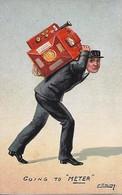 W.R. Ellam  -  A Man Carrying A Gas Meter On His Back. - Altre Illustrazioni