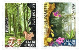 Ref. 264247 * MNH * - ITALY. 2011. EUROPA CEPT 2011 - AÑO INTERNACIONAL DE LOS BOSQUES - 6. 1946-.. Repubblica