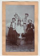 Masked Children Old Photo (85 X 140 Mm) - Croatia 1906 - B190720 - Persone Anonimi