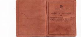 """TESSERA_TESSERE_DOCUMENTO/I-""""REGNO D'ITALIA''LIBRETTO PERSOLE PER LICENZADI CACCIA CON....IMPERIA 26 SETT.1951"""" - Vieux Papiers"""