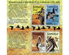 Ref. 33832 * MNH * - JAMAICA. 1985. BICENTENARY OF THE BIRTH OF ORNITHOLOGIST J.J. AUDUBON . BICENTENARIO DEL NACIMIENTO - Jamaique (1962-...)