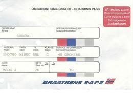 Carte D'embarquement Braathens SAFE - Vol SN 790 Vers Bruxelles - Instapkaart