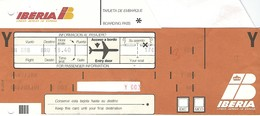 Carte D'embarquement Iberia Madrid - Vol SN 888 Vers Bruxelles - Instapkaart
