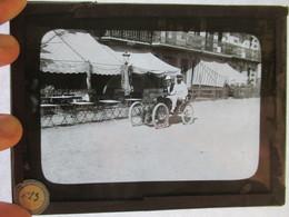 Plaque De Verre Photo Type Négatif Au Gélatino Bromure Automobile Ancienne - Diapositivas De Vidrio