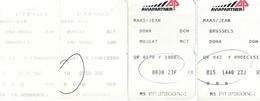 Cartes D'embarquement (4) Bruxelles - Doha - Muscat - Abu Dhabi - Bruxelles - Instapkaart