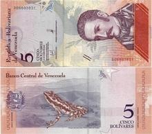 VENEZUELA       5 Bolívares       P-New       15.1.2018       UNC - Venezuela