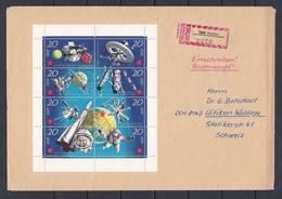 DDR - 1971  - Michel Nr. 1636/1640  - Kleinbogen - Einschreiben - DDR