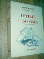 Lettres à L'inconnue  André Maurois  E.O. Numéroté Sur Alfa Cellunaf.  Frontispice Par Dignimont  1953 - Libri, Riviste, Fumetti