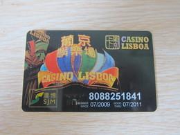 Casino Lisboa, Macau SJM,valided To July 2011 - Casinokarten