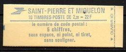 Col16 SPM St Pierre & Miquelon 1986 N° 464a Carnet Q Variété  Neuf XX MNH - Carnets