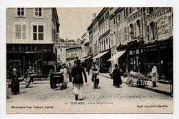 - CPA ÉPINAL (88) - Rue Léopold-Bourg 1910 (bele Animation) - Photo Paul Testart N° 16 - - Epinal