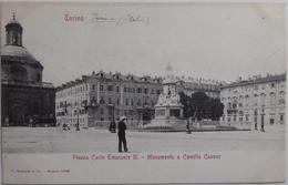 Torino - Piazza Carlo Emanuele II. Monumento A Camillo Cavour - Italia