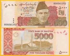 Pakistan 5000 Rupees P-51 2019 UNC Banknote - Pakistan